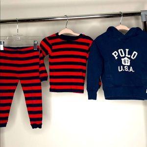 Polo Ralph Lauren Hoodie & Leveret 2 pc set